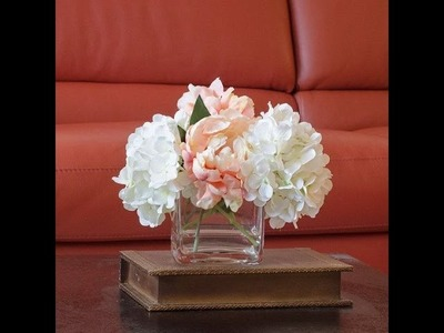 DIY: Silk Flower Arrangement using a Gel Water