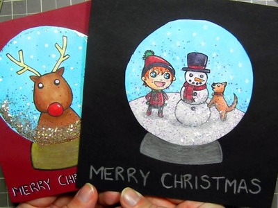 ★ DIY Snow Globe Christmas Card ★