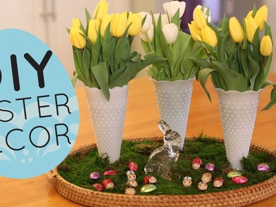 DIY Spring and Easter Centerpiece Display- Home Decor Idea