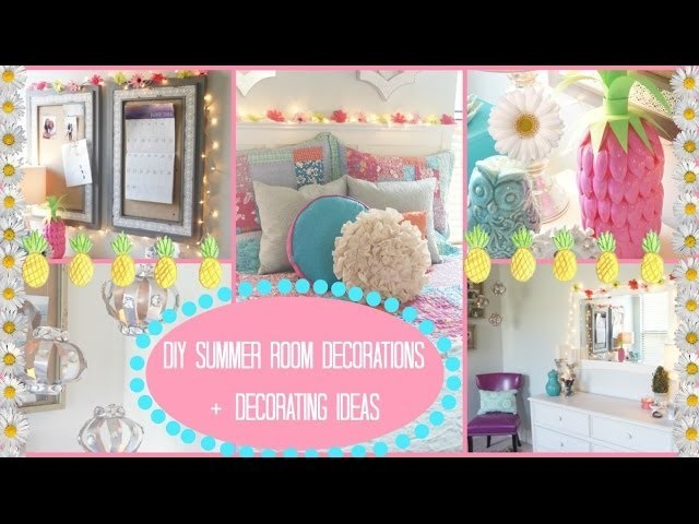 DIY: Summer Room Decorations + Ideas for Decorating!!