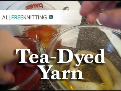 DIY Tea-Dyed Yarn