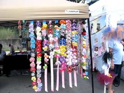 Fall Fiesta Downtown Orlando Florida Boutique Hair Bows Holders Jewelry Craft Fair