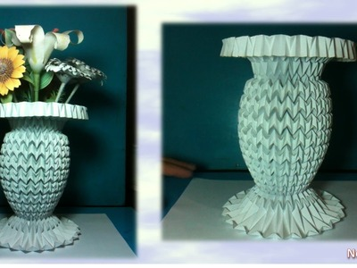 Folding Design Projects - Flower Vase 1 (Origami - PaperCraft)