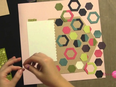Hexagon Trend Scrapbook Layout Tuesday Tutorial