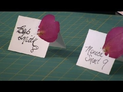 Homemade Place Card : Wedding Gifts & Crafts