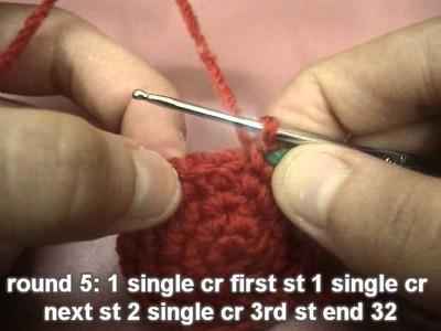 How to Crochet Amigurumi Mushroom (Right Hand)