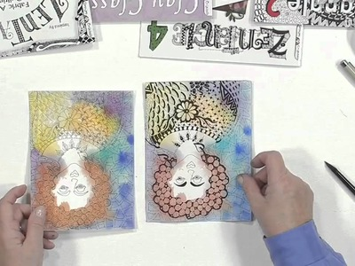 How to Incorprate Watercolors with Zentangle Drawings