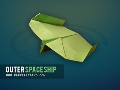 How to make a paper plane that FLIES BACK| Outer Spaceship (Tri Dang)