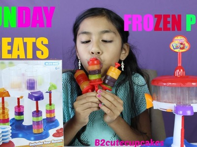 How To Make Colorful Frozen Pops- Frozen Treat Maker - Sunday Treats| B2cutecupcakes