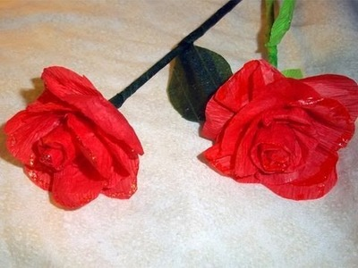 How to make crepe paper roses. flowers - EP