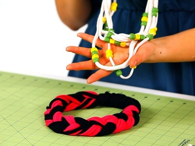 How to Prep Shirt for T-Shirt Necklace | No-Sew Crafts