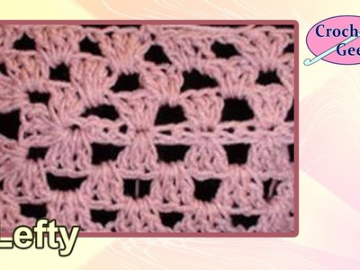 Left Hand Granny Crochet Rectangle Crochet Geek