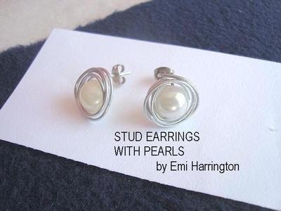MAKE PEARL STUD EARRINGS