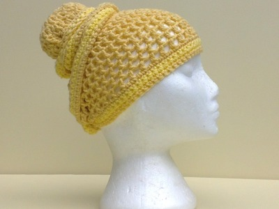 Mesh Head Wrap Hat Crochet Tutorial