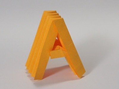 Origami Letter 'A'
