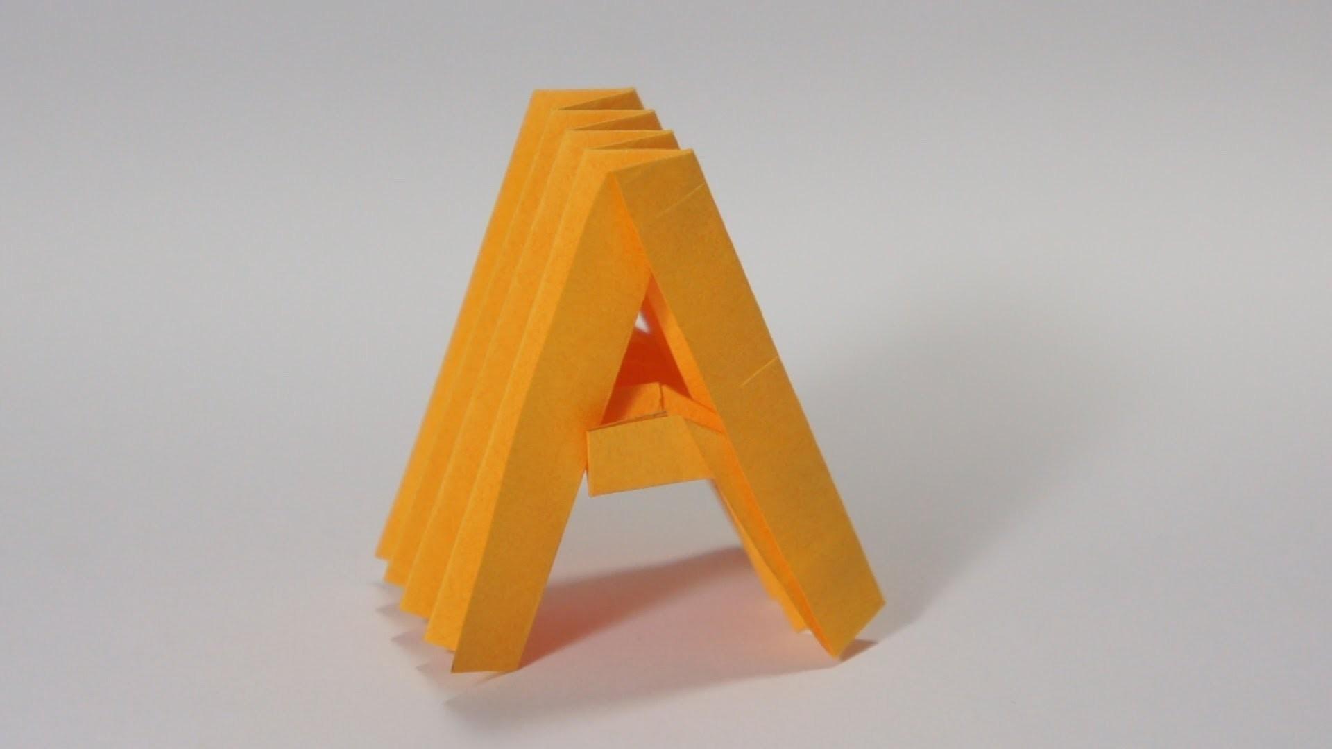 Как сделать из бумаги букву i