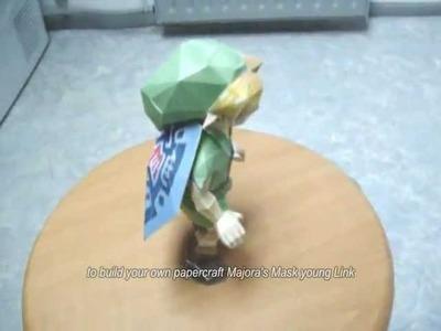 Papercraft Legend of Zelda Majora's Mask young Link
