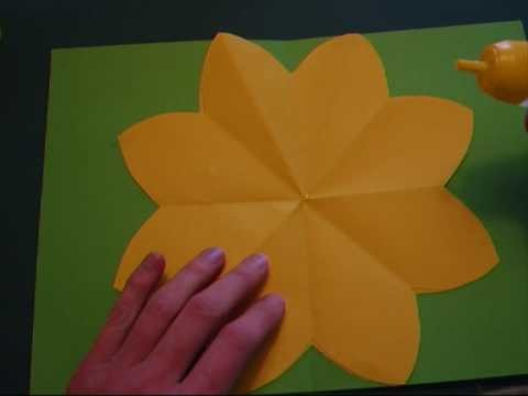 Pop-up - papercraft - pop-up paper flower - tutorial - dutchpapergirl