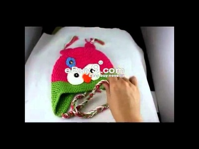 Toddler Baby Owl Ear Flap Crochet Beanie Photography Photo Handmade Hat Ymm4w Green