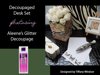 Aleene's Zebra and Floral Print Desk Accessories by Tiffany Windsor