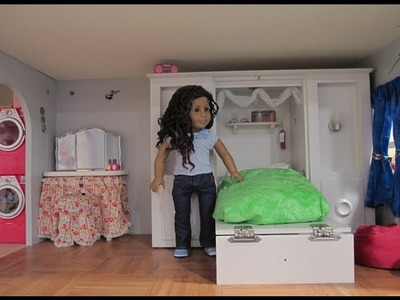 American Girl Doll House tour Update - also a trash can craft idea!!!