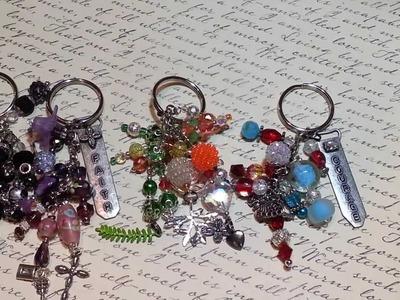 Beaded key chain-  purse charms