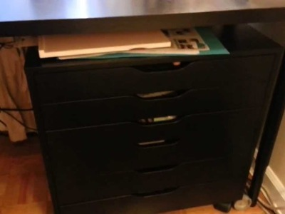 Craft Space Storage and Desk with Ikea