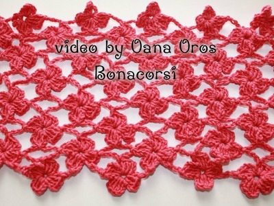 Crochet flowers&arches stitch