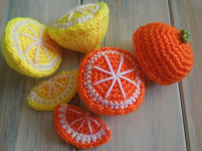 (crochet) How To - Crochet a Lemon Half - Yarn Scrap Friday