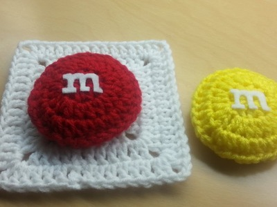 #Crochet M&M candy Granny Square TUTORIAL #crochetgrannysquare