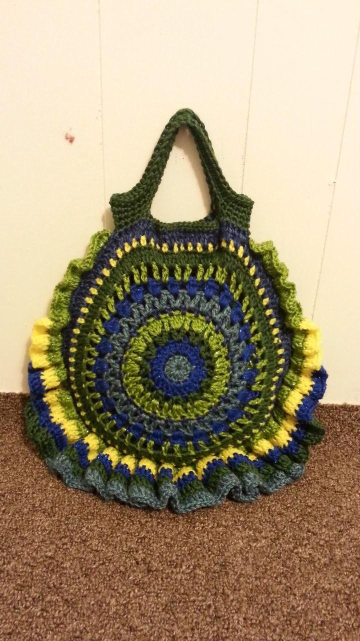 #Crochet Round Handbag Purse #TUTORIAL Circle Purse How to Crochet a Bag