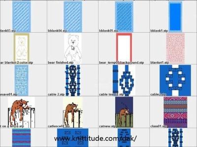 DesignaKnit 8 Tutorial - Designing A Baby Blanket