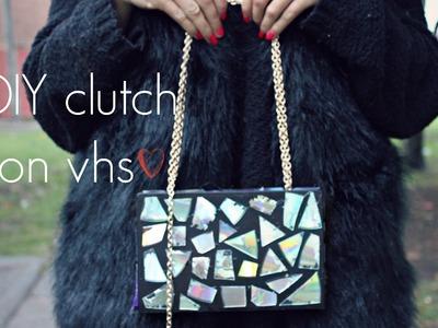 DIY clutch con vhs