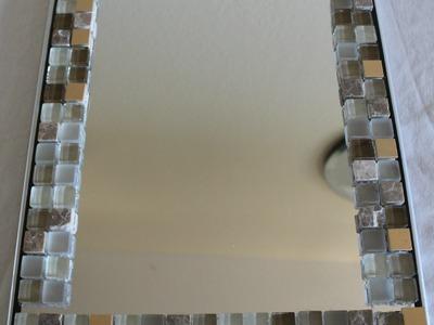 DIY - Home Decor- glass tile Mirror frame