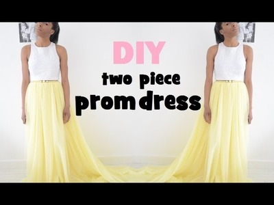DIY | HOW TO MAKE A TWO PIECE PROM DRESS.GOWN