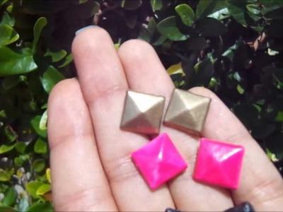 DIY How To Make Stud Earrings