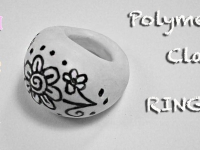 DIY Polymer Clay Tutorial. Drawn Ring - Arcilla polimérica Anillo - Argilla polimerica Anello