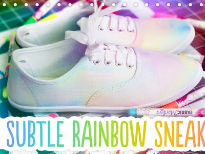 DIY Subtle Rainbow Canvas Shoes - Trick Your Kicks with Michaels and Tulip!