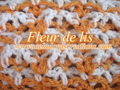 Fleur de lis Stitch - Left Handed Crochet Tutorial