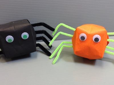 Fun Halloween Origami Balloon Spiders