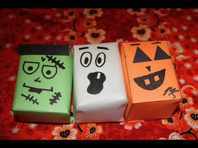 Halloween Arts and Crafts - Candy Gift Boxes