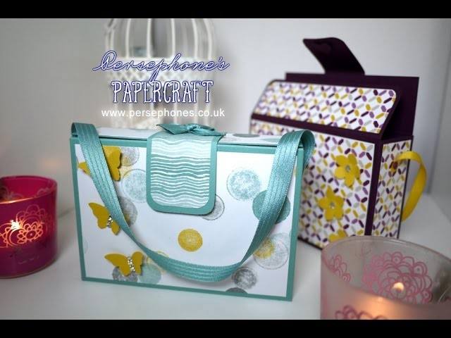 Handbag Inspired Box | Stampin' Up (UK) with Persephone's Papercraft