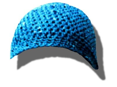 How to crochet. make a beanie hat cap tuque bonnet left handed tutorial - © Woolpedia