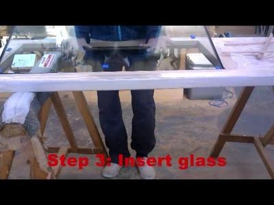 How to glaze an exterior door
