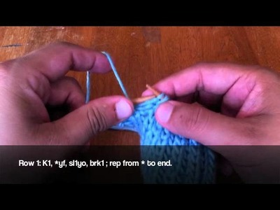 How to Knit Left Handed: The Brioche Stitch