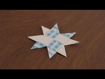 How to Make a Paper Star : Paper Art Projects