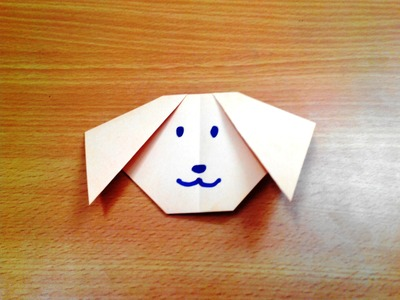 How to make an origami dog face step by step.