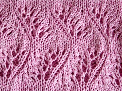 Lace Loop Knitting Stitch Feather - Lace Loop Strickmuster Feder