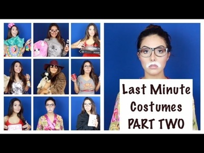 Last Minute Halloween Costumes Part 2 - Easy DIY - No Makeup