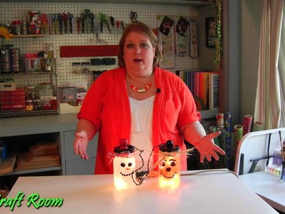 Lighted Holiday Jars - AJ's Craft Room